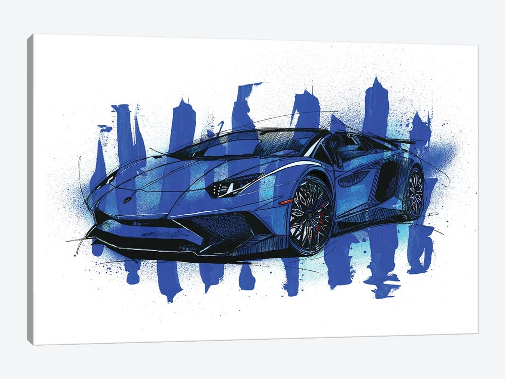 Aventador SV LP750-4 by Frank Banda 1-piece Canvas Wall Art