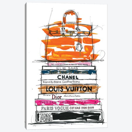 Birkin Bag And Fashion Books Canvas Print #FJB19} by Frank Banda Canvas Wall Art