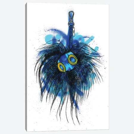 Blue Monster Cube Canvas Print #FJB20} by Frank Banda Canvas Print