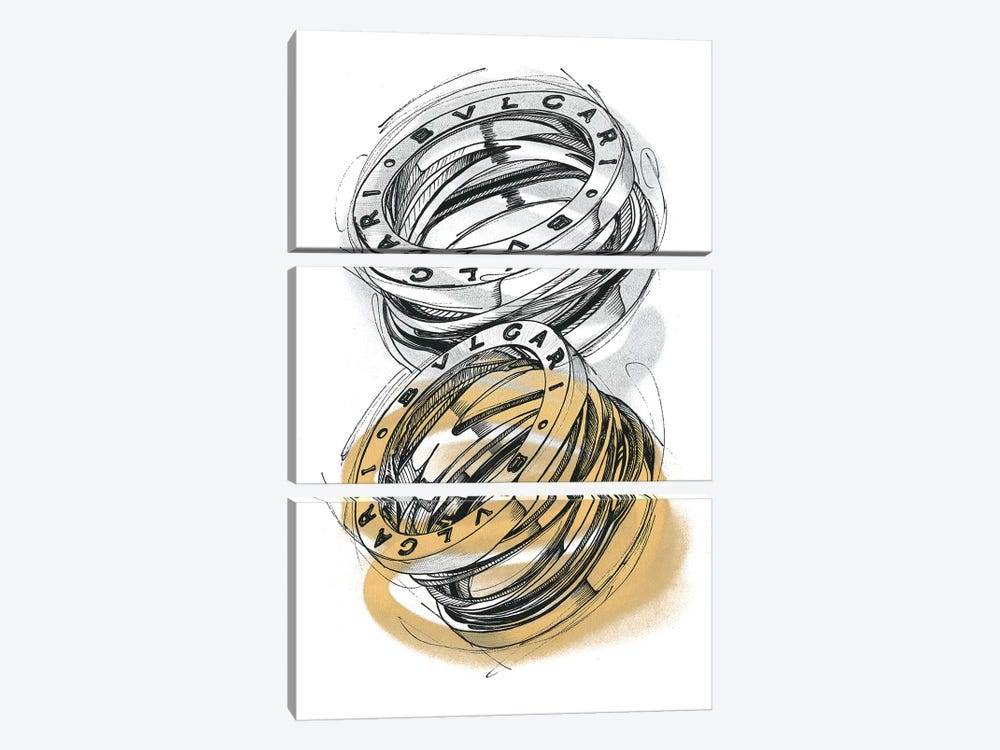 BZero1 by Frank Banda 3-piece Art Print