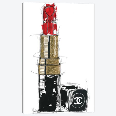 Chanel Rouge Canvas Print #FJB26} by Frank Banda Canvas Art