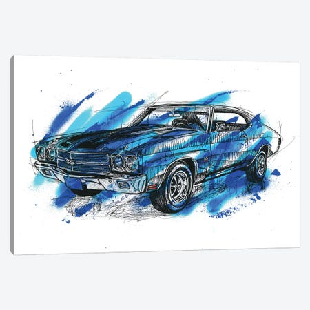Chevelle SS 1970 Canvas Print #FJB27} by Frank Banda Canvas Art