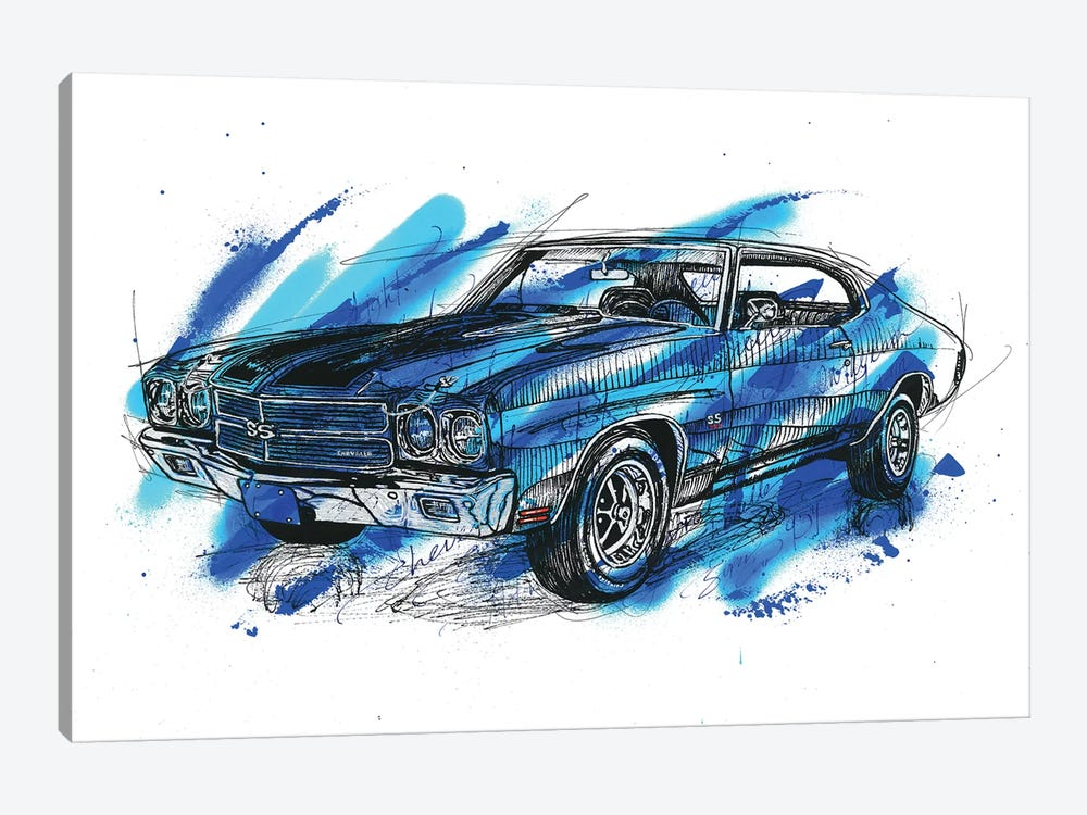 Chevelle SS 1970 by Frank Banda 1-piece Canvas Print