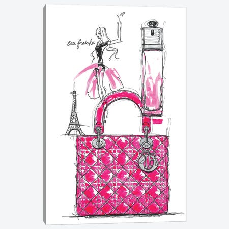 Dior Addict Canvas Print #FJB33} by Frank Banda Canvas Wall Art