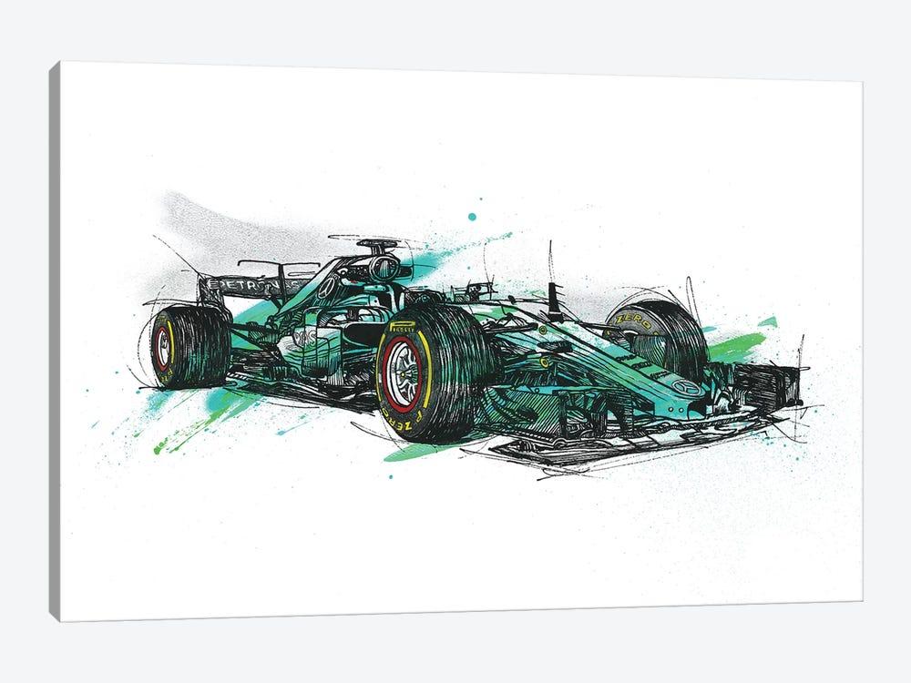 F1 Hamilton by Frank Banda 1-piece Canvas Art