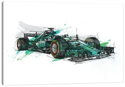 F1 Hamilton Canvas Art Print
