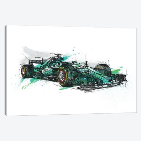 F1 Hamilton Canvas Print #FJB40} by Frank Banda Canvas Print