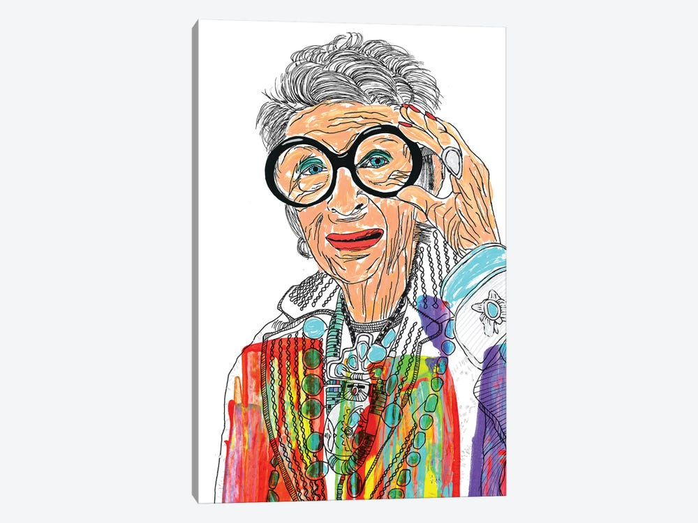 Iris Apfel by Frank Banda 1-piece Canvas Artwork