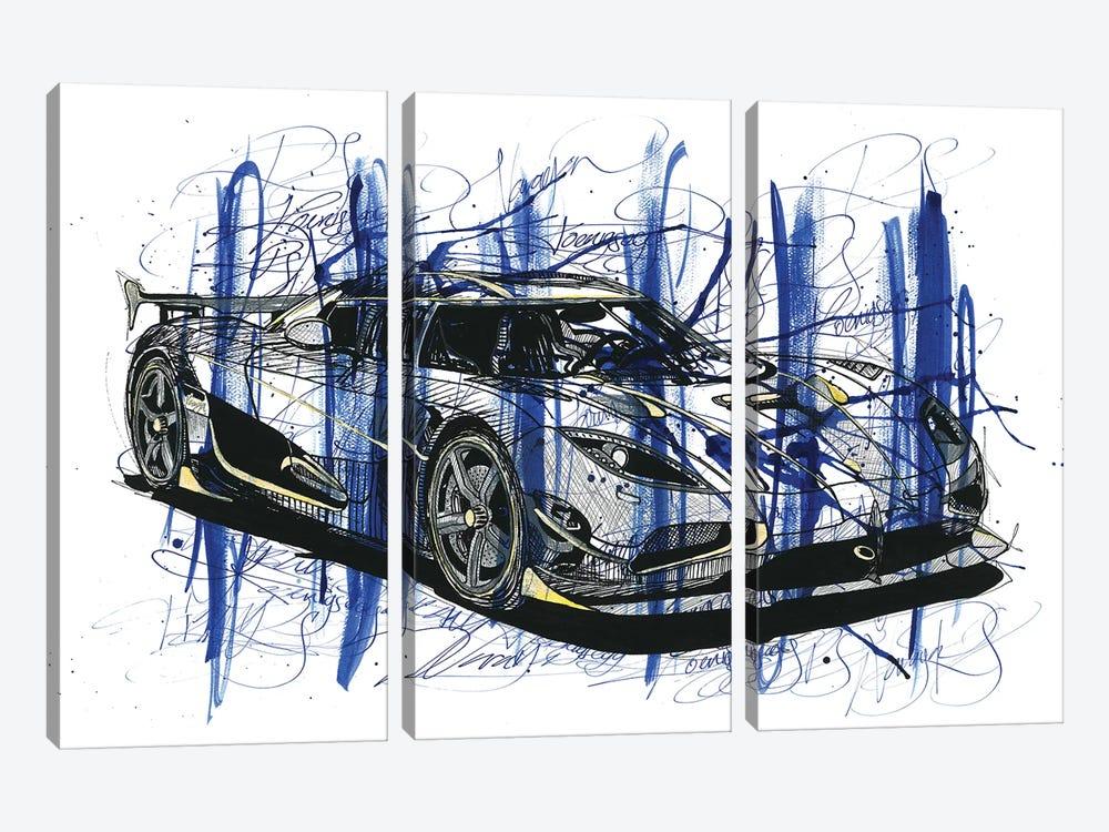 Koeniegsegg Agera RS Naraya by Frank Banda 3-piece Canvas Art Print