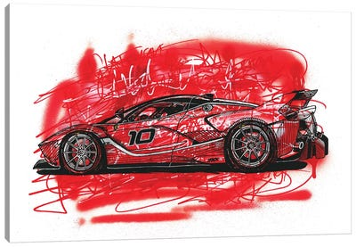 La  Ferrari FXX K Canvas Art Print