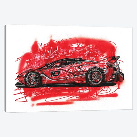 La  Ferrari FXX K Canvas Print #FJB62} by Frank Banda Canvas Art Print
