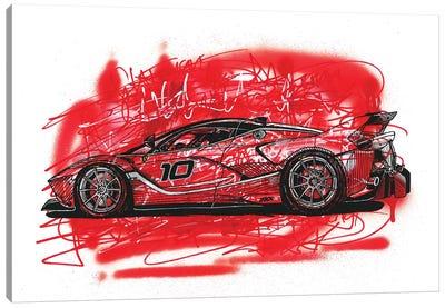 La  Ferrari FXX K Canvas Art Print