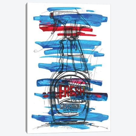 Moschino Fresh Canvas Print #FJB69} by Frank Banda Art Print