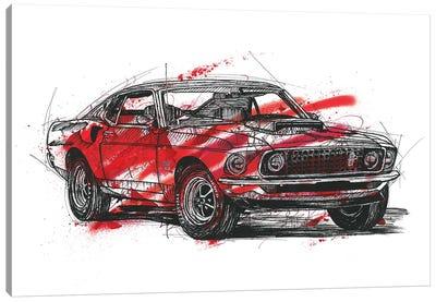 Mustang Boss 429 1970 Canvas Art Print