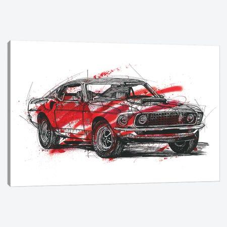 Mustang Boss 429 1970 3-Piece Canvas #FJB70} by Frank Banda Canvas Artwork