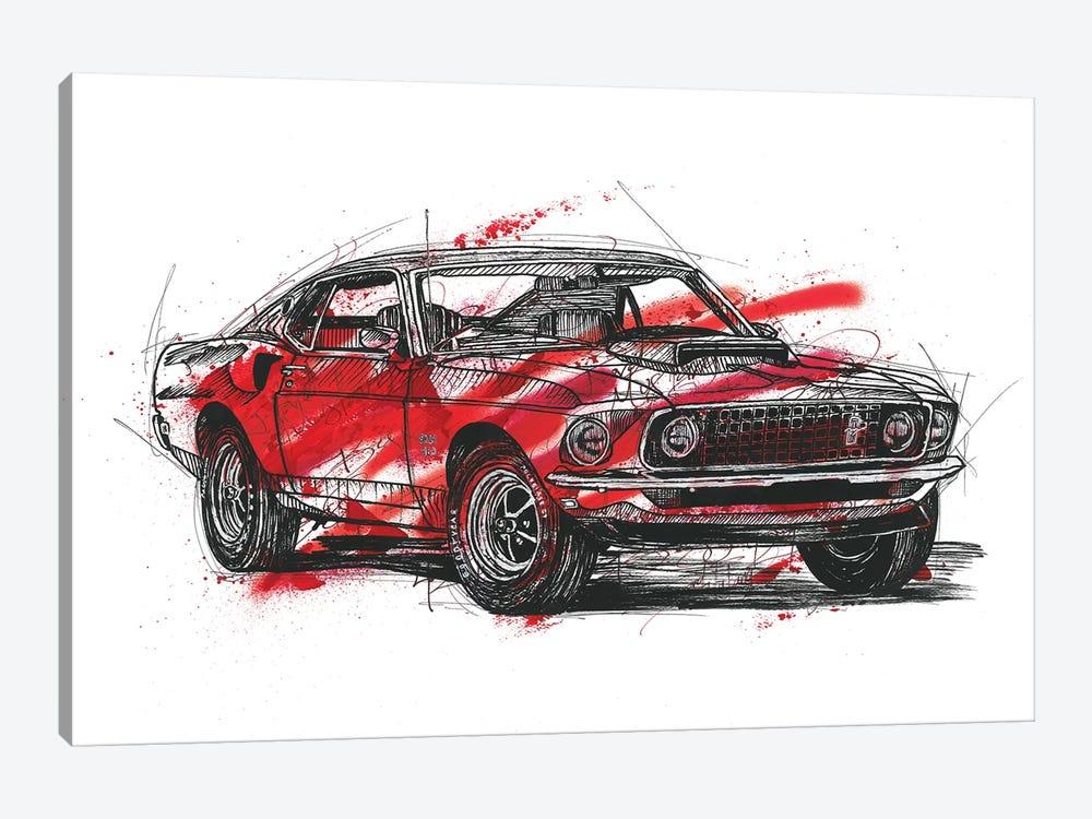 Mustang Boss 429 1970 by Frank Banda 1-piece Canvas Art Print