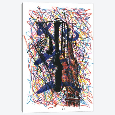 Nike Air Max Canvas Print #FJB72} by Frank Banda Canvas Artwork