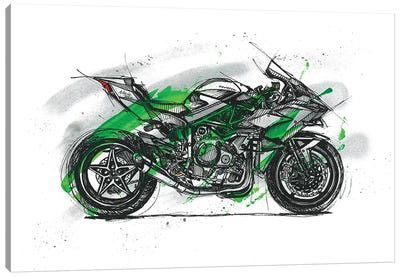 Ninja H2R Canvas Art Print