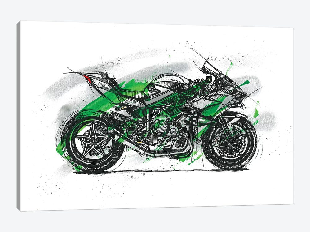 Ninja H2R by Frank Banda 1-piece Canvas Art