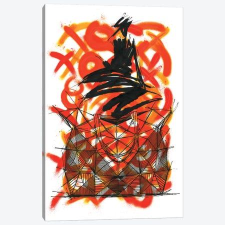 PG Origami Canvas Print #FJB77} by Frank Banda Art Print