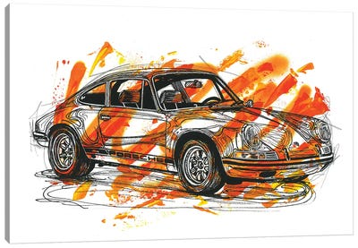 Porsche 911 ST 1970 Canvas Art Print