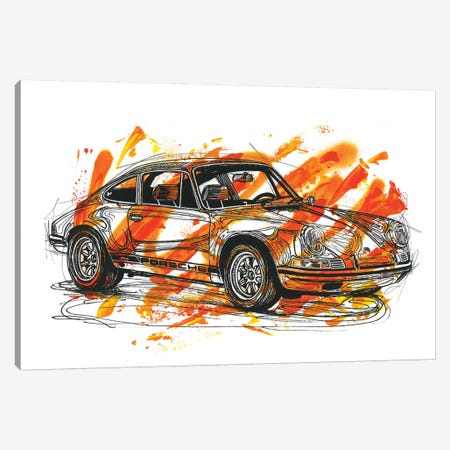 Porsche 911 ST 1970 Canvas Print #FJB79} by Frank Banda Canvas Art