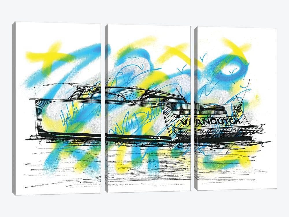 Vandutch Silver Metallic 55 by Frank Banda 3-piece Canvas Wall Art
