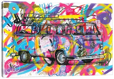 VW Kombi 1974 Canvas Art Print