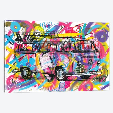 VW Kombi 1974 Canvas Print #FJB95} by Frank Banda Art Print