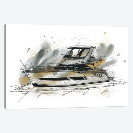 Yachting Canvas Print #FJB98} by Frank Banda Canvas Artwork