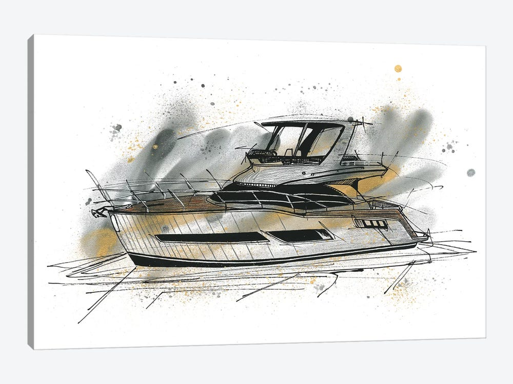 Yachting by Frank Banda 1-piece Art Print