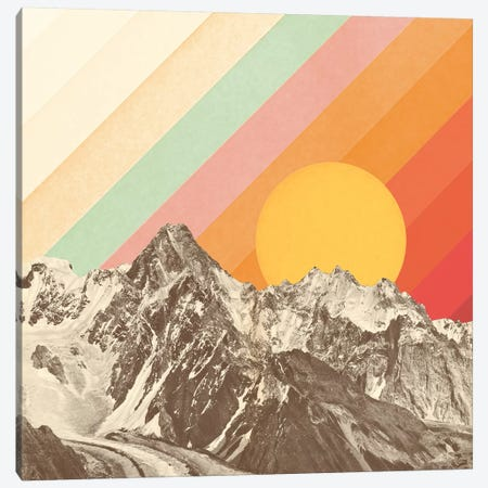 Mountainscape I Canvas Print #FLB105} by Florent Bodart Canvas Artwork