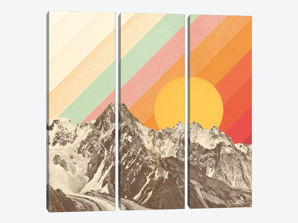 Mountainscape I by Florent Bodart 3-piece Canvas Art