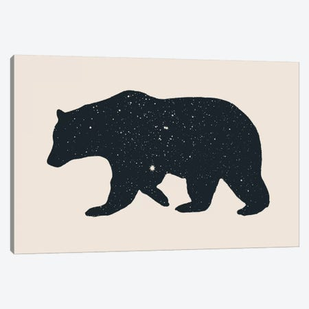 Bear Canvas Print #FLB10} by Florent Bodart Canvas Artwork