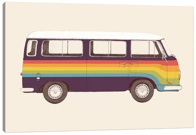 Van Rainbow Canvas Art Print
