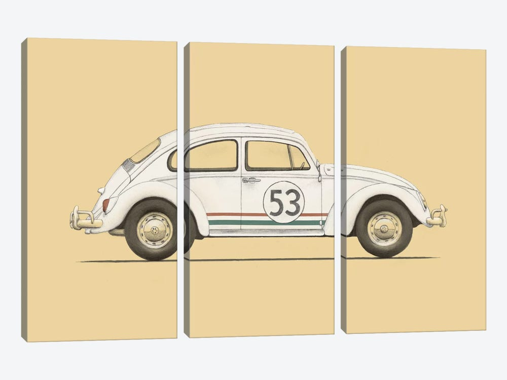 Beetle by Florent Bodart 3-piece Canvas Artwork