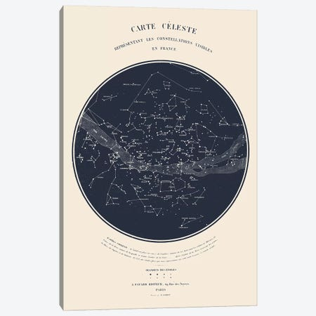 Carte du Ciel I Canvas Print #FLB123} by Florent Bodart Canvas Art Print