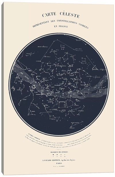 Carte du Ciel I Canvas Art Print
