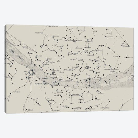 Carte du Ciel II On White Canvas Print #FLB125} by Florent Bodart Canvas Artwork