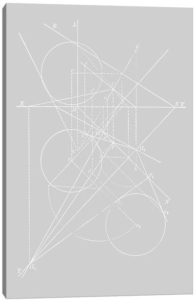 Compasses On Grey Canvas Art Print