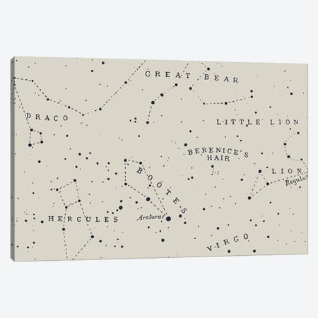 Constellation I On White Canvas Print #FLB129} by Florent Bodart Art Print
