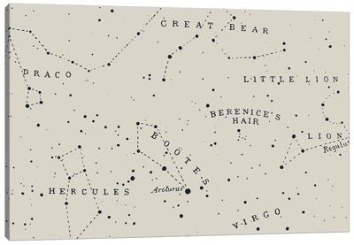 Constellation I On White Canvas Art Print