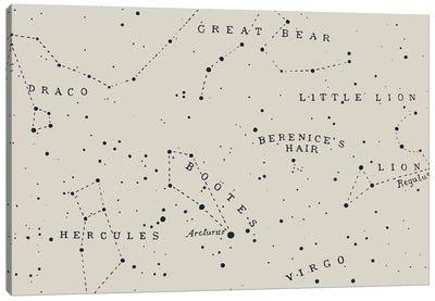 Constellation I On White Canvas Art Print