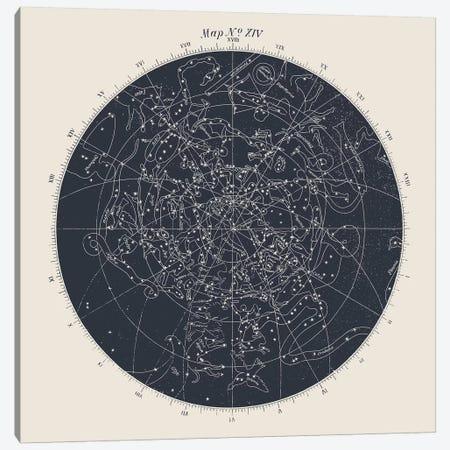 Map n°XIV Canvas Print #FLB138} by Florent Bodart Canvas Artwork
