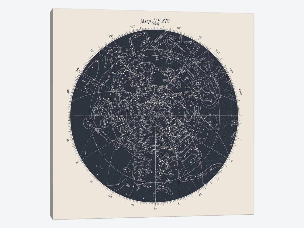 Map n°XIV by Florent Bodart 1-piece Canvas Art