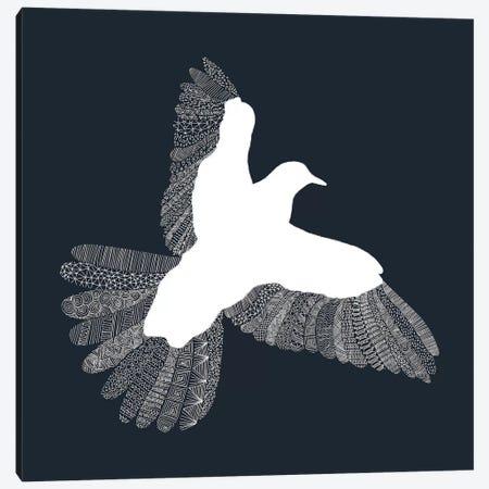 Bird on Blue Canvas Print #FLB14} by Florent Bodart Art Print