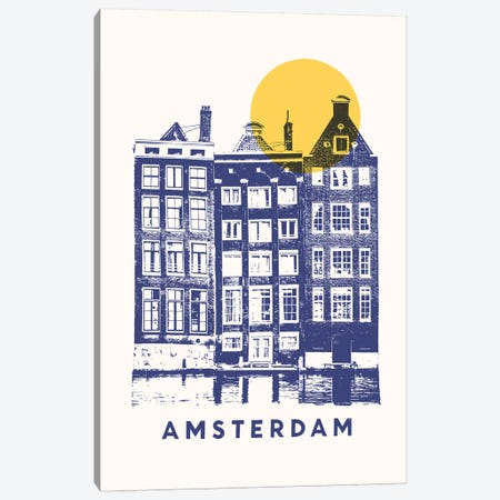 Amsterdam Canvas Print #FLB160} by Florent Bodart Canvas Art Print