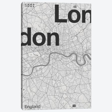London Map Canvas Print #FLB161} by Florent Bodart Art Print