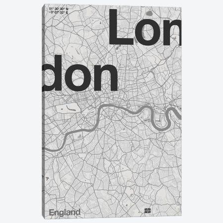 London Map Canvas Print #FLB161} by Florent Bodart Art Print