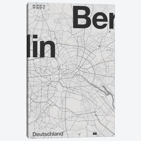Berlin Map Canvas Print #FLB162} by Florent Bodart Art Print